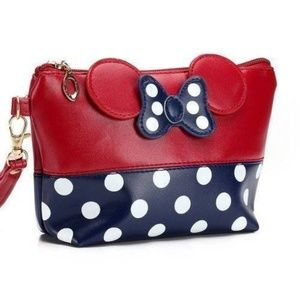 Handbags - Blue and Red Minnie Mouse Makeup Bag